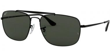 Sunglasses - Ray-Ban® - Ray-Ban® RB3560 THE COLONEL - 002/58 BLACK // GREEN POLARIZED
