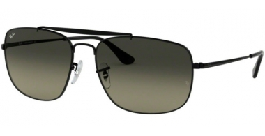Sunglasses - Ray-Ban® - Ray-Ban® RB3560 THE COLONEL - 002/71 BLACK // LIGHT GREY GRADIENT DARK GREY