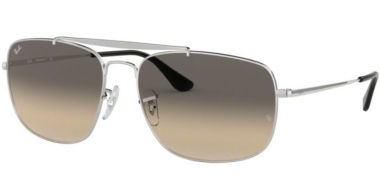 Sunglasses - Ray-Ban® - Ray-Ban® RB3560 THE COLONEL - 003/32 SILVER // CLEAR GRADIENT GREY