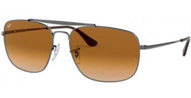 Sunglasses - Ray-Ban® - Ray-Ban® RB3560 THE COLONEL - 004/51 GUNMETAL // CLEAR GRADIENT BROWN