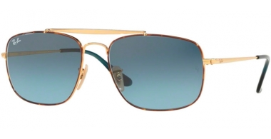 Sunglasses - Ray-Ban® - Ray-Ban® RB3560 THE COLONEL - 91023M HAVANA // BLUE GRADIENT GREY