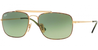 Sunglasses - Ray-Ban® - Ray-Ban® RB3560 THE COLONEL - 91034M HAVANA // GREEN GRADIENT GREEN