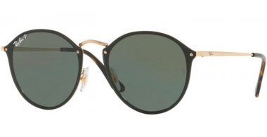 Sunglasses - Ray-Ban® - Ray-Ban® RB3574N BLAZE ROUND - 001/9A GOLD // DARK GREEN POLARIZED