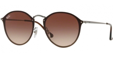 Sunglasses - Ray-Ban® - Ray-Ban® RB3574N BLAZE ROUND - 004/13 GUNMETAL // BROWN GRADIENT