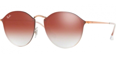 Sunglasses - Ray-Ban® - Ray-Ban® RB3574N BLAZE ROUND - 9035V0 COPPER // CLEAR GRADIENT RED MIRROR RED