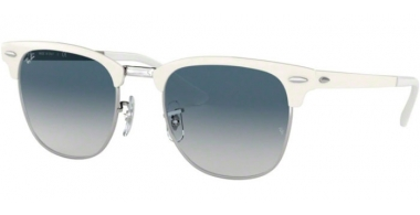 Gafas de Sol - Ray-Ban® - Ray-Ban® RB3716 - 90883F SILVER ON WHITE // CLEAR GRADIENT BLUE