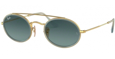 Sunglasses - Ray-Ban® - Ray-Ban® RB3847N - 91233M GOLD // BLUE GREY GRADIENT
