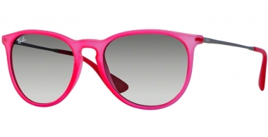 Gafas de Sol - Ray-Ban® - Ray-Ban® RB4171 ERIKA - 602711 RUBBER TRANSPARENT CORAL // GREY GRADIENT