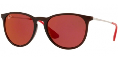 Sunglasses - Ray-Ban® - Ray-Ban® RB4171 ERIKA - 6339D0 BROWN // DARK VIOLET MIRROR RED