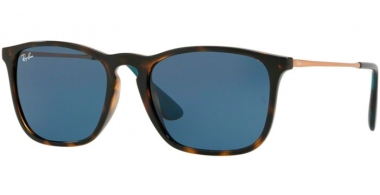 Gafas de Sol - Ray-Ban® - Ray-Ban® RB4187 CHRIS - 639080 HAVANA // DARK BLUE