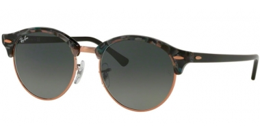 Sunglasses - Ray-Ban® - Ray-Ban® RB4246 CLUBROUND - 125571 SPOTTED GREY GREEN // DARK GREY GRADIENT