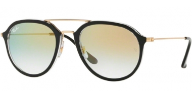 Gafas de Sol - Ray-Ban® - Ray-Ban® RB4253 - 6052Y0 BLACK // CLEAR GRADIENT GOLD