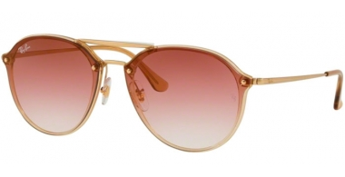 Gafas de Sol - Ray-Ban® - Ray-Ban® RB4292N BLAZE DOUBLEBRIDGE - 63880T LIGHT BROWN // BORDEAUX BROWN GRADIENT