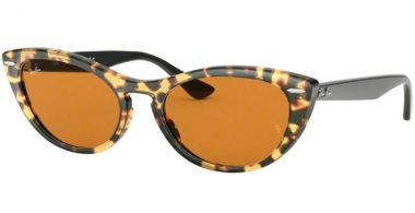 Sunglasses - Ray-Ban® - Ray-Ban® RB4314N NINA - 12483L HAVANA HONEY // YELLOW GOLD MIRROR