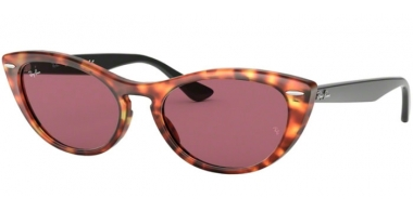 Sunglasses - Ray-Ban® - Ray-Ban® RB4314N NINA - 1249U0 HAVANA RED // VIOLET GOLD MIRROR PHOTOCHROMIC