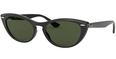 Sunglasses - Ray-Ban® - Ray-Ban® RB4314N - 601/31 BLACK // GREEN