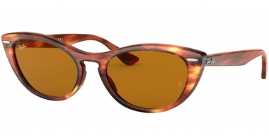 Sunglasses - Ray-Ban® - Ray-Ban® RB4314N - 954/33 STRIPPED BROWN // BROWN