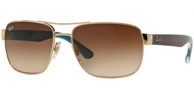 Sunglasses - Ray-Ban® - Ray-Ban® RB3530 - 001/13 GOLD // BROWN GRADIENT