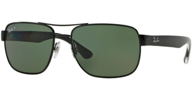 Sunglasses - Ray-Ban® - Ray-Ban® RB3530 - 002/9A BLACK // GREEN POLARIZED