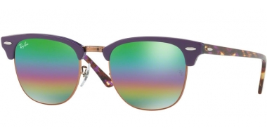 Gafas de Sol - Ray-Ban® - Ray-Ban® RB3016 CLUBMASTER - 1221C3 METALLIC MEDIUM BRONZE // LIGHT GREY MIRROR RAINBOW 2