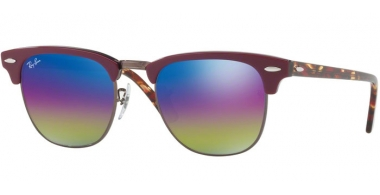 Gafas de Sol - Ray-Ban® - Ray-Ban® RB3016 CLUBMASTER - 1222C2 METALLIC DARK BRONZE // LIGHT GREY MIRROR RAINBOW 1