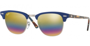 Gafas de Sol - Ray-Ban® - Ray-Ban® RB3016 CLUBMASTER - 1223C4 METALLIC LIGHT BRONZE // LIGHT GREY MIRROR RAINBOW 3