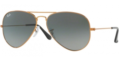 Gafas de Sol - Ray-Ban® - Ray-Ban® RB3025 AVIATOR LARGE METAL - 197/71 SHINY BRONZE // LIGHT GREY GRADIENT DARK GREY