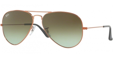Gafas de Sol - Ray-Ban® - Ray-Ban® RB3025 AVIATOR LARGE METAL - 9002A6 SHINY MEDIUM BRONZE // GREEN GRADIENT BROWN