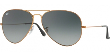 Gafas de Sol - Ray-Ban® - Ray-Ban® RB3026 AVIATOR LARGE METAL II - 197/71 SHINY BRONZE // LIGHT GREY GRADIENT DARK GREY