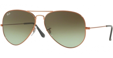 Gafas de Sol - Ray-Ban® - Ray-Ban® RB3026 AVIATOR LARGE METAL II - 9002A6 SHINY MEDIUM BRONZE // GREEN GRADIENT BROWN