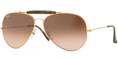 Gafas de Sol - Ray-Ban® - Ray-Ban® RB3029 OUTDOORSMAN II - 9001A5 SHINY LIGHT BRONZE // PINK GRADIENT BROWN
