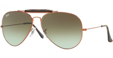 Gafas de Sol - Ray-Ban® - Ray-Ban® RB3029 OUTDOORSMAN II - 9002A6 SHINY MEDIUM BRONZE // GREEN GRADIENT BROWN