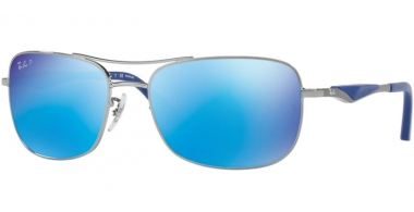 Sunglasses - Ray-Ban® - Ray-Ban® RB3515 - 004/9R GUNMETAL // GREEN MIRROR BLUE POLARIZED