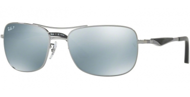 Sunglasses - Ray-Ban® - Ray-Ban® RB3515 - 004/Y4 GUNMETAL // DARK BROWN SILVER MIRROR POLARIZED
