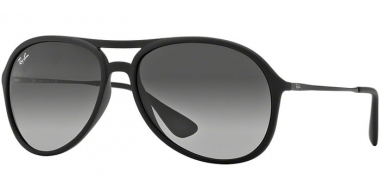 Gafas de Sol - Ray-Ban® - Ray-Ban® RB4201 ALEX - 622/8G RUBBER BLACK // GREY GRADIENT