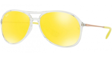 Gafas de Sol - Ray-Ban® - Ray-Ban® RB4201 ALEX - 6295C9 TRANSPARENT // YELLOW MIRROR