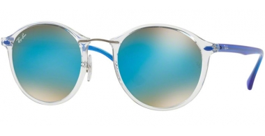 Gafas de Sol - Ray-Ban® - Ray-Ban® RB4242 ROUND II LIGHT RAY - 6289B7 TRASPARENT // BROWN MIRROR BLUE