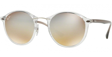 Gafas de Sol - Ray-Ban® - Ray-Ban® RB4242 ROUND II LIGHT RAY - 6290B8 TRASPARENT // BROWN MIRROR SILVER