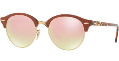Sunglasses - Ray-Ban® - Ray-Ban® RB4246 CLUBROUND - 12207O TOP BROWN TRASPARENT GREY // BROWN GRADIENT BROWN MIRROR PINK
