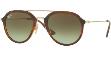 Gafas de Sol - Ray-Ban® - Ray-Ban® RB4253 - 820/A6 STRIPPED HAVANA // GREEN GRADIENT BROWN
