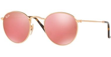 Sunglasses - Ray-Ban® - Ray-Ban® RB3447N ROUND METAL - 001/Z2 SHINY GOLD // COPPER FLASH