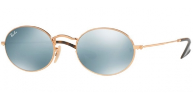 Sunglasses - Ray-Ban® - Ray-Ban® RB3547N OVAL - 001/30 GOLD // GREY FLASH