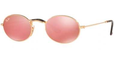 Sunglasses - Ray-Ban® - Ray-Ban® RB3547N OVAL - 001/Z2 GOLD // COPPER FLASH