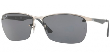 Sunglasses - Ray-Ban® - Ray-Ban® RB3550 - 019/81 MATTE SILVER // GREY POLARIZED
