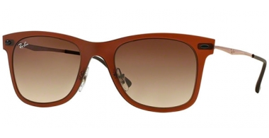 Sunglasses - Ray-Ban® - Ray-Ban® RB4210 - 612213 MATTE DARK BROWN // BROWN GRADIENT
