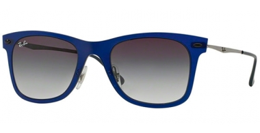 Sunglasses - Ray-Ban® - Ray-Ban® RB4210 - 895/8G MATTE DARK BLUE // GREY  GRADIENT