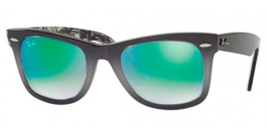 Sunglasses - Ray-Ban® - Ray-Ban® RB2140 ORIGINAL WAYFARER - 11994J TOP LIGHT GREY GRADIENT ON GREY // MIRROR GRADIENT GREEN