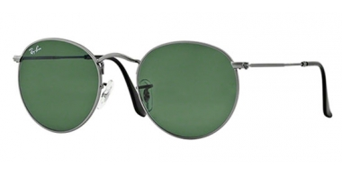 Sunglasses - Ray-Ban® - Ray-Ban® RB3447 ROUND METAL - 029 MATTE GUNMETAL // CRYSTAL GREEN