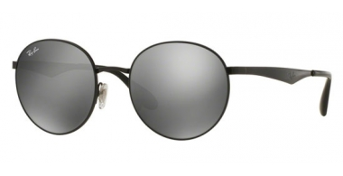 Gafas de Sol - Ray-Ban® - Ray-Ban® RB3537 - 002/6G SHINY BLACK // GREY MIRROR SILVER