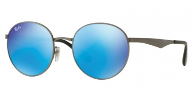 Gafas de Sol - Ray-Ban® - Ray-Ban® RB3537 - 004/55 GUNMETAL // GREEN MIRROR BLUE